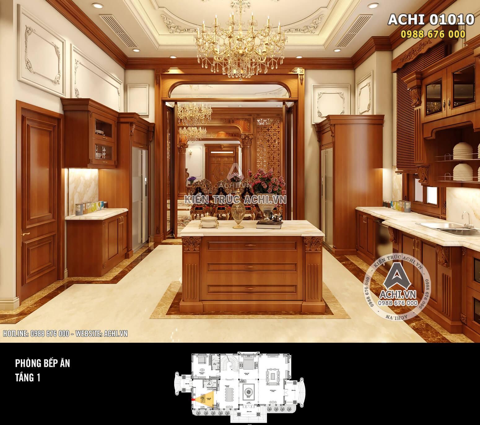 Hình ảnh: Thiết kế nội thất tân cổ điển - Phòng bếp - 02