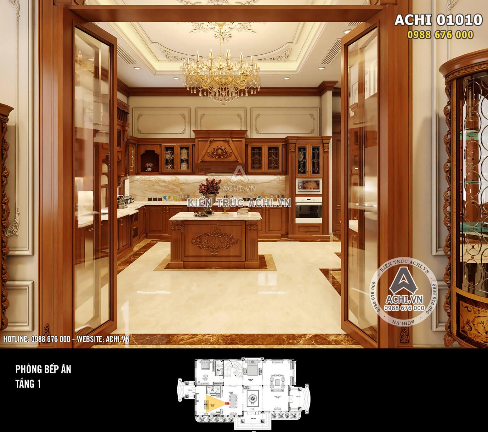 Hình ảnh: Thiết kế nội thất tân cổ điển - Phòng bếp - 03
