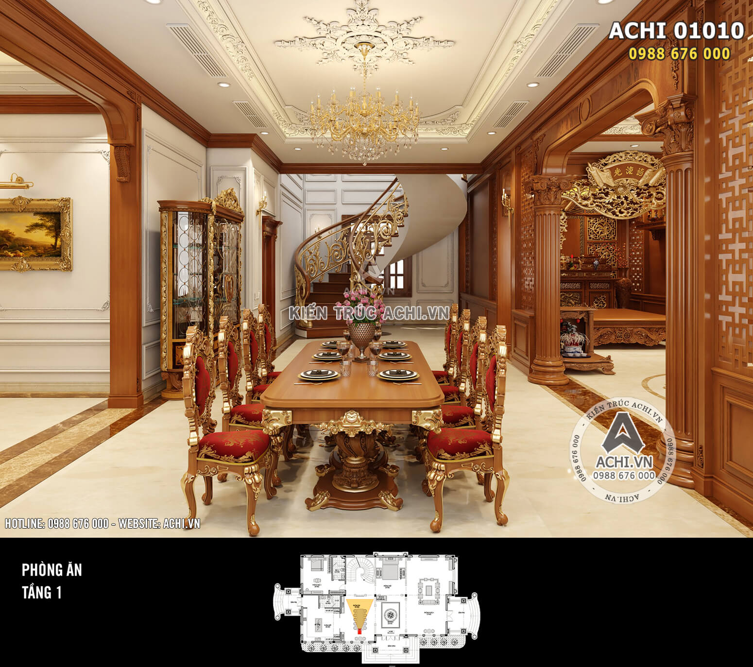Hình ảnh: Thiết kế nội thất tân cổ điển - Phòng ăn