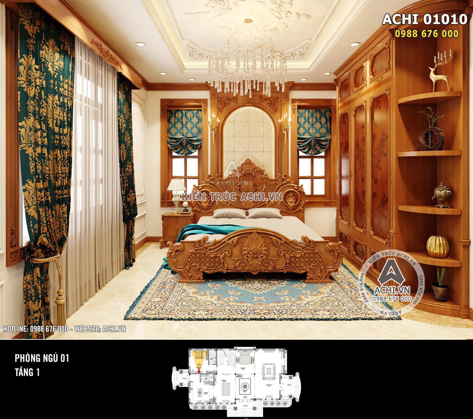 Hình ảnh: Thiết kế nội thất tân cổ điển - Phòng ngủ - 01