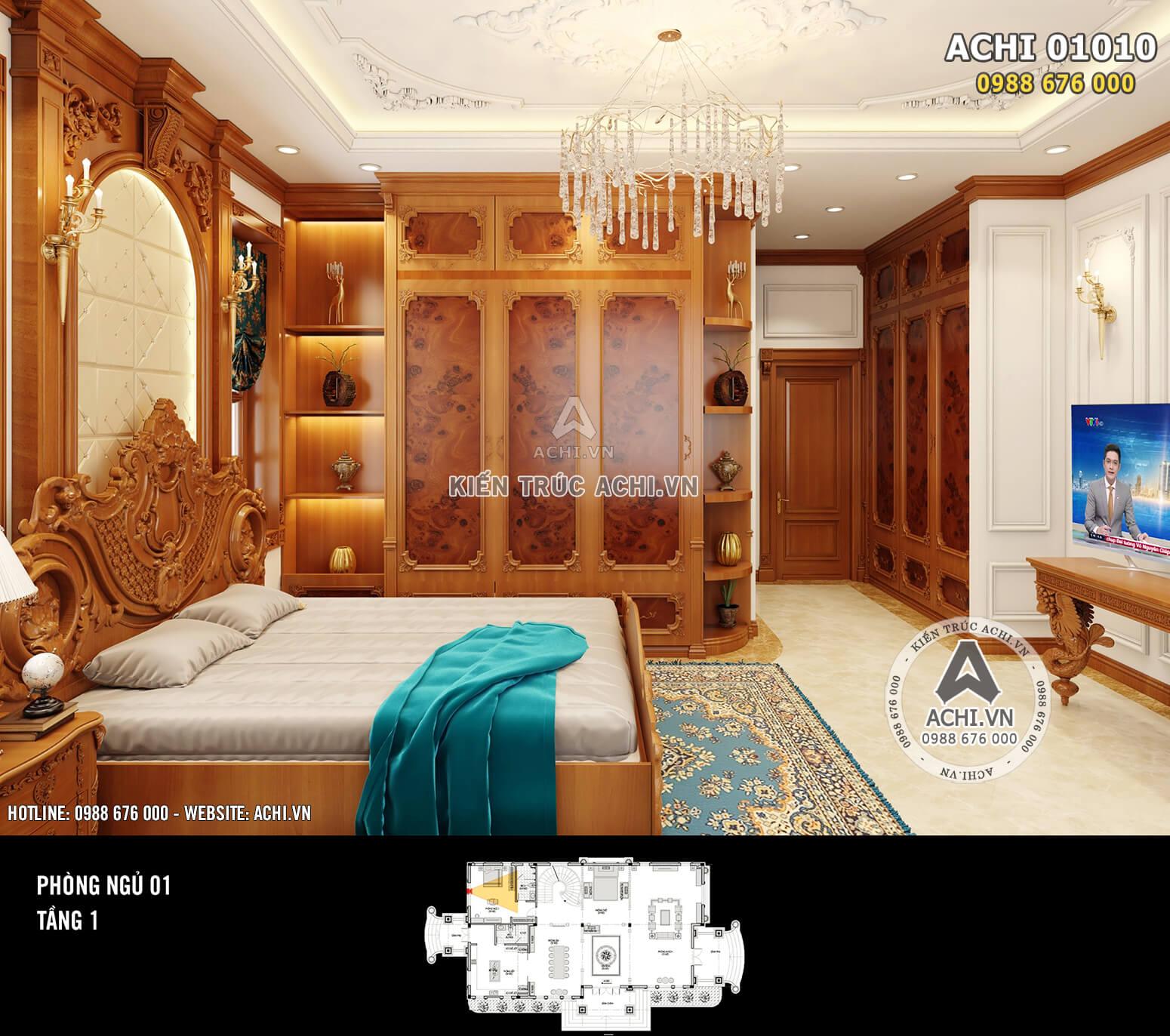Hình ảnh: Thiết kế nội thất tân cổ điển - Phòng ngủ 1 - 02