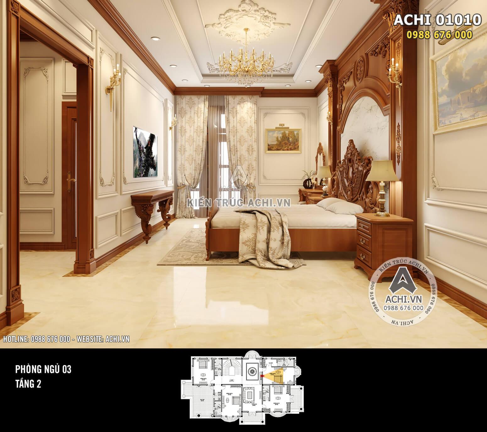 Hình ảnh: Thiết kế nội thất tân cổ điển - Phòng ngủ 2 - 01