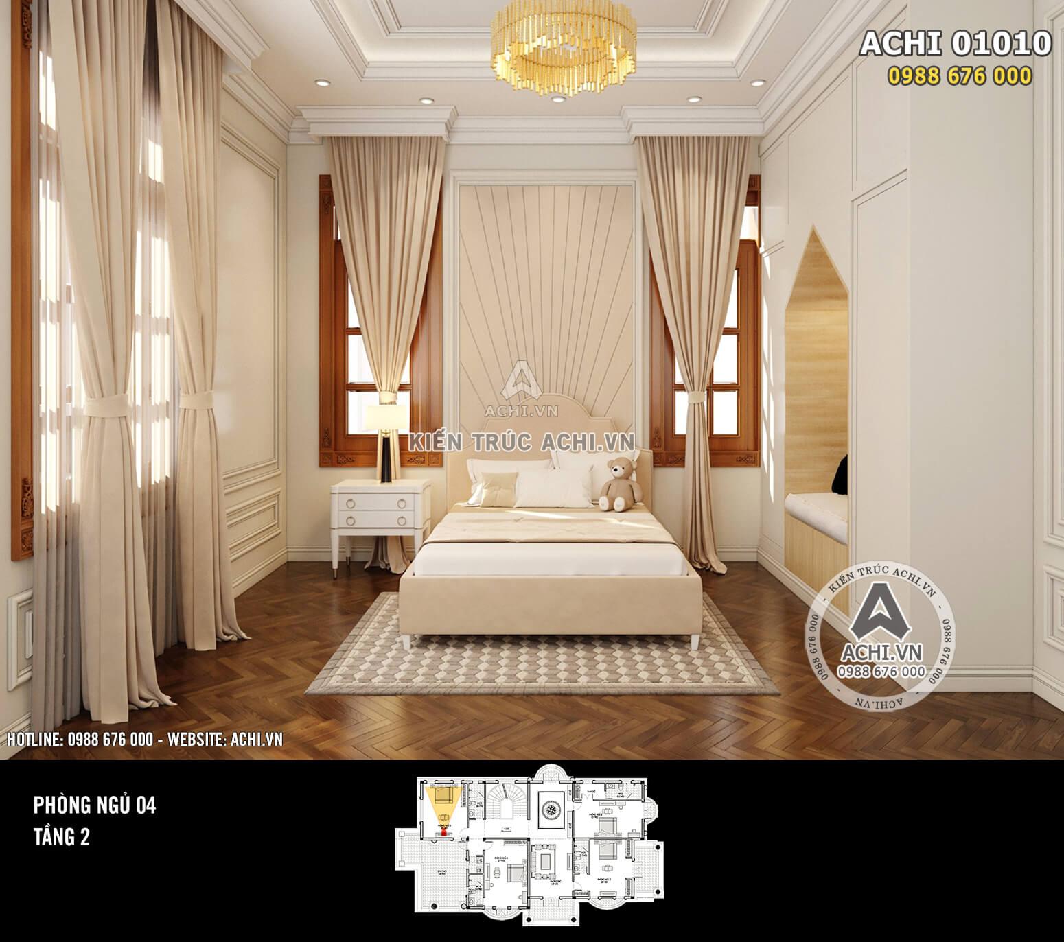 Hình ảnh: Thiết kế nội thất tân cổ điển - Phòng ngủ 3 - 01