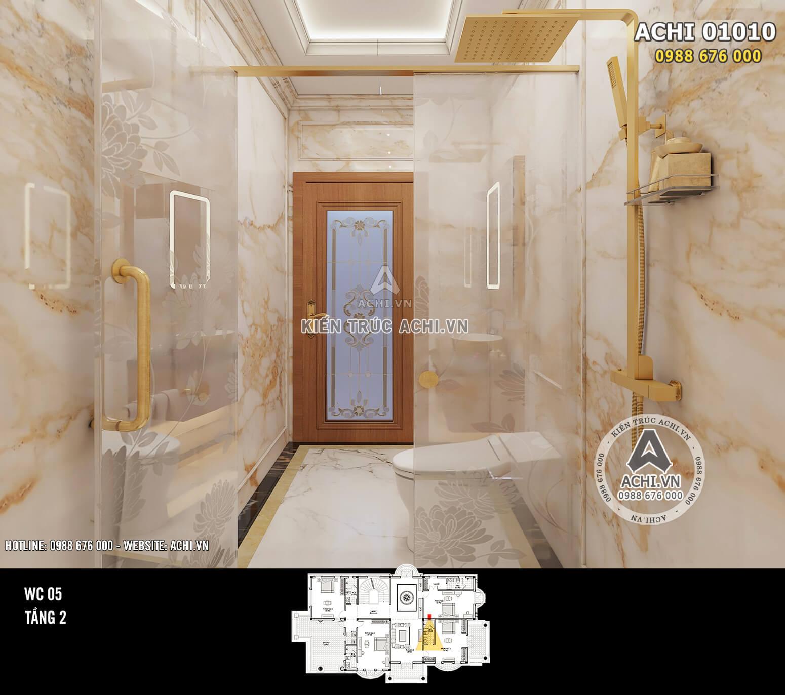 Hình ảnh: Thiết kế nội thất tân cổ điển - Phòng WC - 02