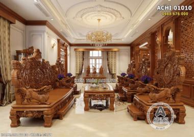 Thiết kế nội thất biệt thự tân cổ điển đẹp tại Hải Dương – ACHI 01010