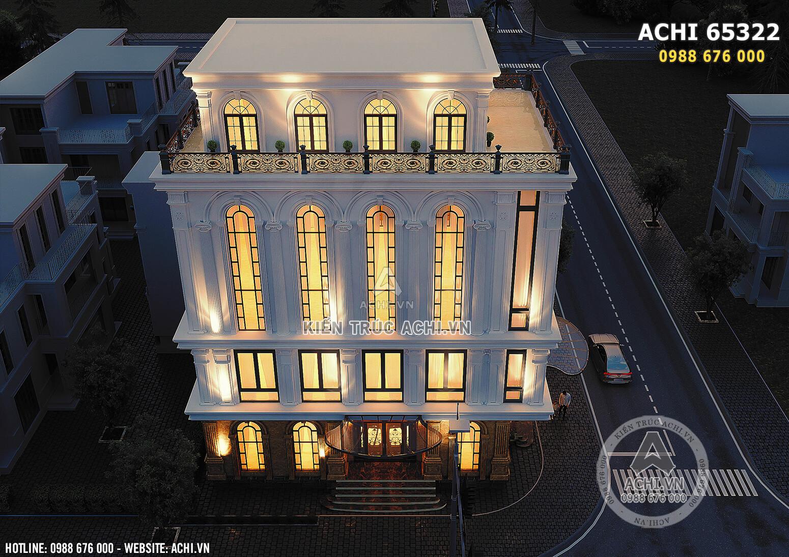Hình ảnh: Góc nhìn từ trên xuống của tòa nhà văn phòng thương mại - ACHI 65322