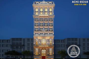 Mẫu khách sạn tân cổ điển 4 sao đẹp 10 tầng – ACHI 65310
