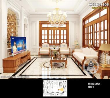 Mẫu thiết kế nội thất đẹp phong cách tân cổ điển – ACHI 01305