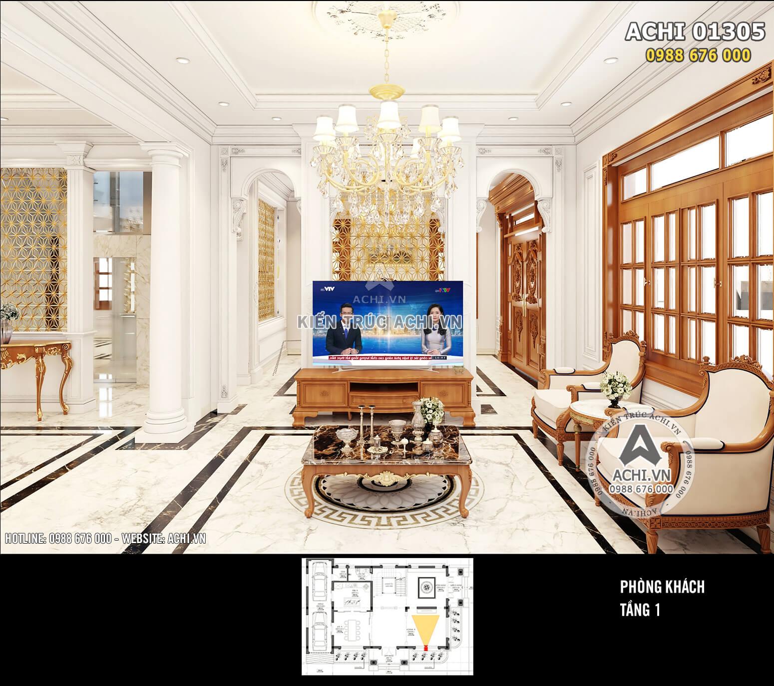 Thiết kế phòng khách đẹp cuốn hút, hài hòa công năng