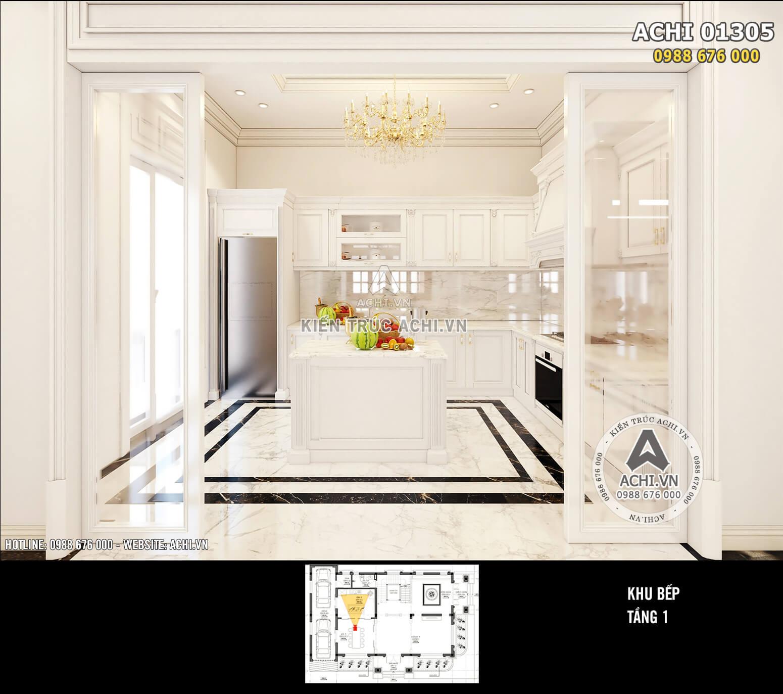 Thiết kế nội thất tân cổ điển vô cùng tiện nghi và sang trọng