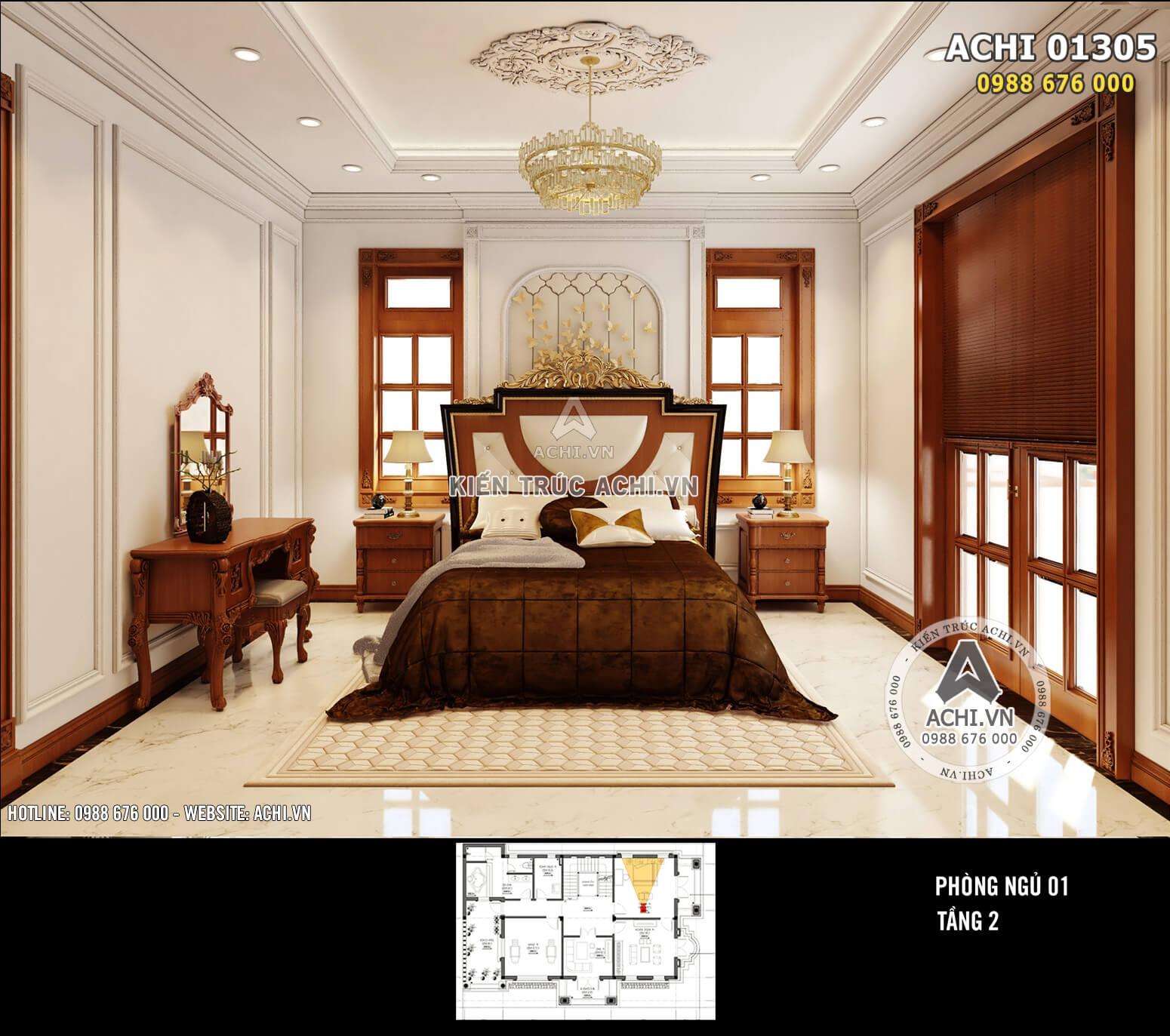 Phòng ngủ giản dị, tinh tế với sự bố trí thông minh, ngăn nắp và tiện nghi