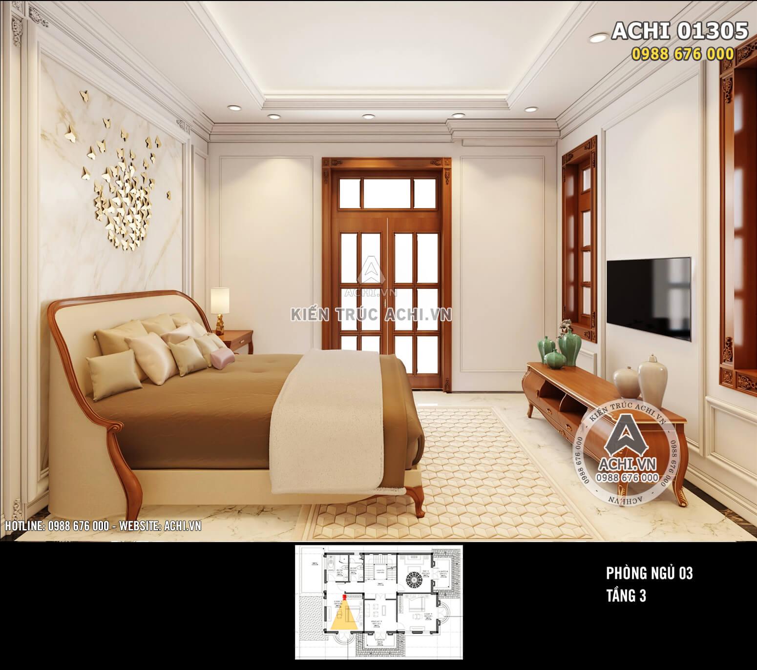 Mẫu thiết kế nội thất đẹp phong cách tân cổ điển - ACHI 01305