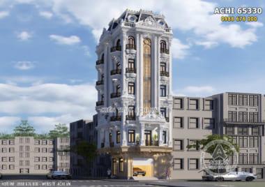 Thiết kế khách sạn tân cổ điển 7 tầng 4 sao đẹp tại Hưng Yên – ACHI 65330