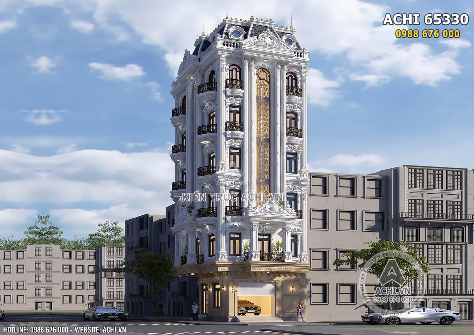 Hình ảnh: Thiết kế khách sạn tân cổ điển 7 tầng 4 sao đẹp tại Hưng Yên - ACHI 65330