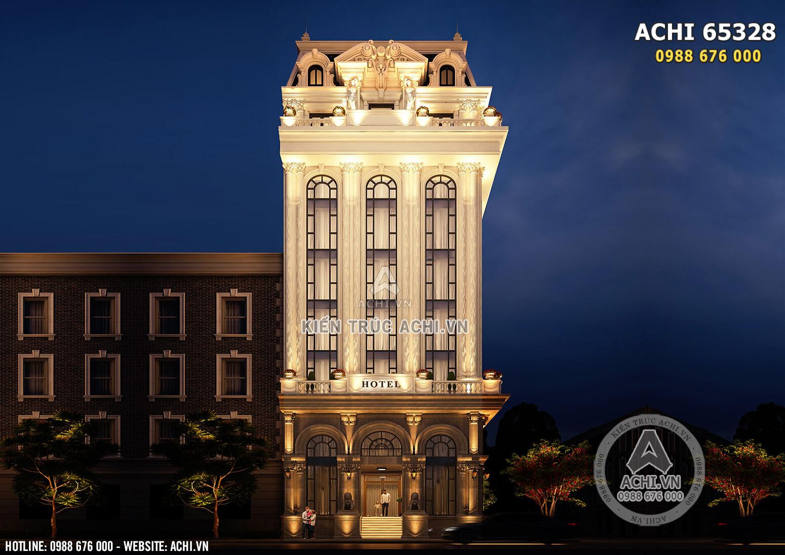 Hình ảnh: Mặt tiền mẫu thiết kế khách sạn theo tiêu chuẩn 5 sao - ACHI 65328