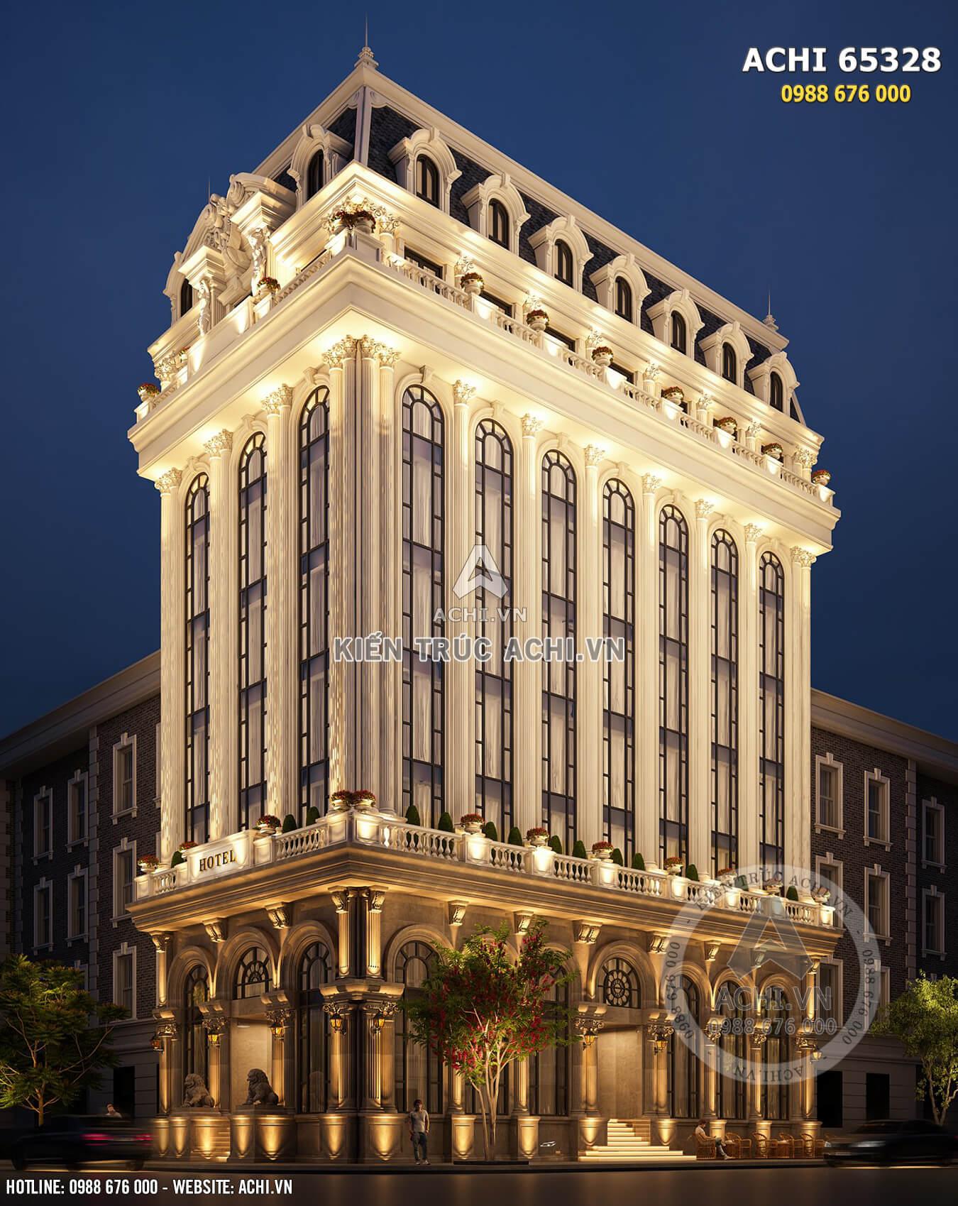 Hình ảnh: Xu hướng kiến trúc tân cổ của tòa khách sạn tân cổ theo tiêu chuẩn 5 sao