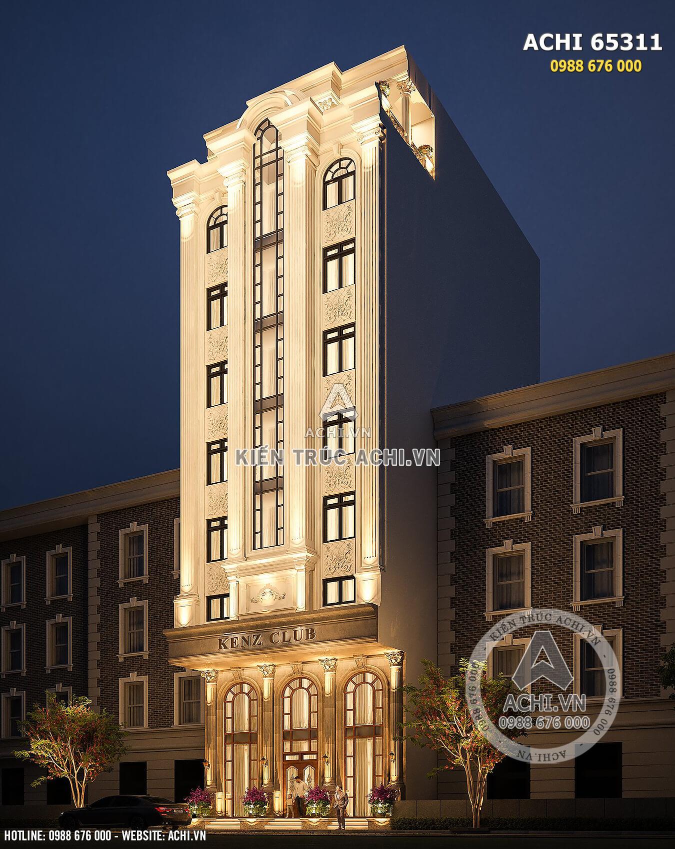 Chiêm ngưỡng một góc đẹp mẫu thiết kế tòa nhà tân cổ điển