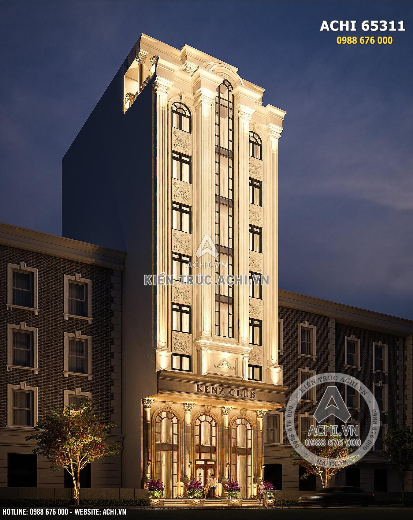 Thiết kế tòa nhà kinh doanh tân cổ điển - ACHI 65311