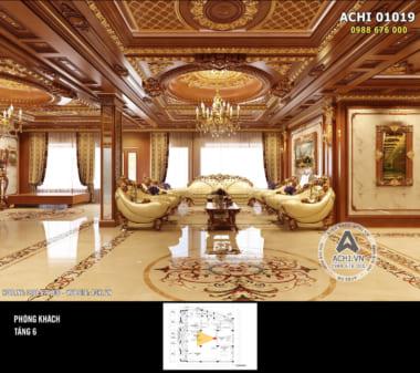 Thiết kế nội thất gỗ Penhouse tân cổ điển 500m2 – ACHI 01019