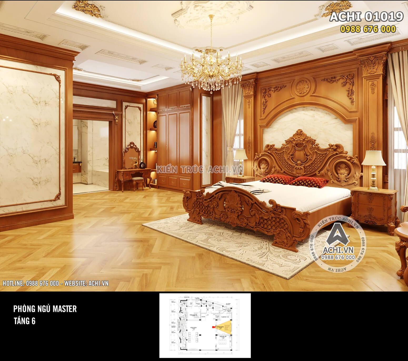 Hình ảnh: Không gian phòng ngủ rộng rãi và sang trọng – ACHI 01019