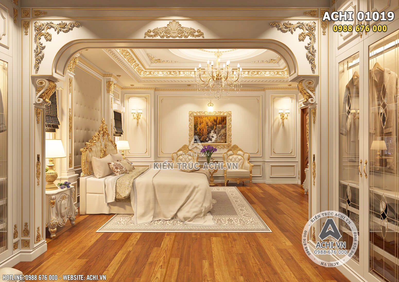Hình ảnh: Lối kiến trúc tân cổ điển giúp căn phòng trở nên ấn tượng