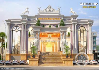 Hình ảnh: không gian mặt tiền của mẫu thiết kế trung tâm tiệc cưới hội nghị nhà hàng